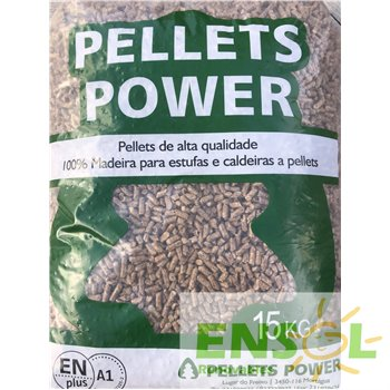 EN Plus A1 certified Pellets Power Wood pellets in 15 Kg bag