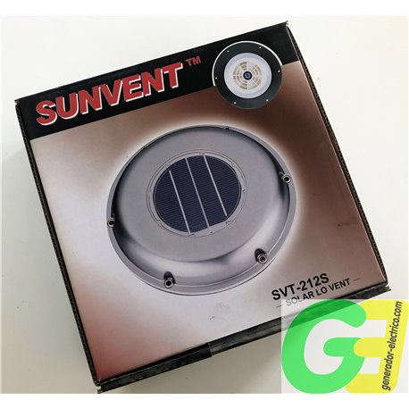 SunVent: Stainless steel Independent solar ventilator