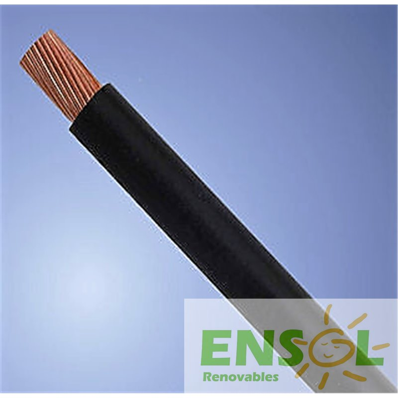 black single core 6mm solar cable