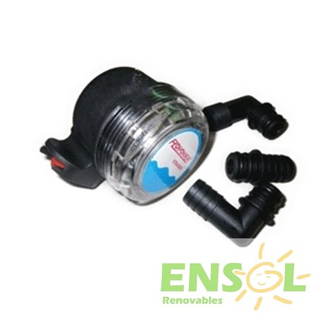 Flopower pump protection filter with mesh