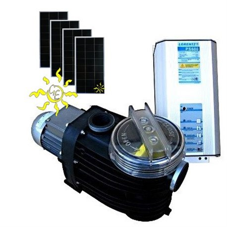 Kit bomba Solar Piscina Lorentz PS600CS-15-1 con paneles