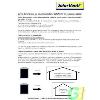 Selecting the correct solarventi -1-