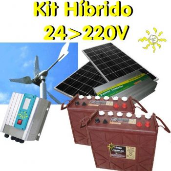 Hybrid Solar-wind kit 5 to 6kwh/day