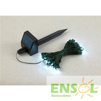 Solar powered Ico-GE garden LED string