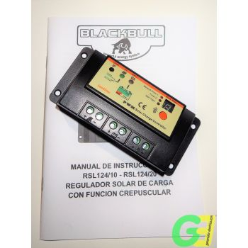 BlackBull 12/24-10 solar charge controller with instructions