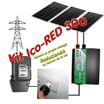 Grid connected IcoRED300 solar kit.