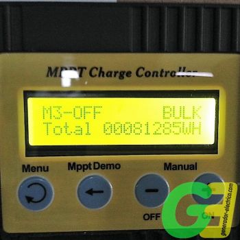Ico-Ge12/24 20A MPPT solar controller display view