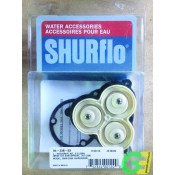 Complete diaphragm assembly for Shurflo 2088 pumps. Part nr 94-238-03