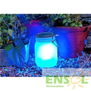 SunJar Decorative solar powered Light on blue 3