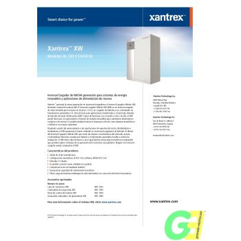 Hybrid inverter XW 4024 specs sheet 1