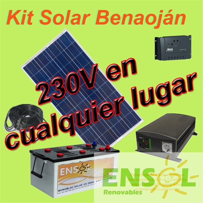 Benaojan Solar Kit with 150W Solar