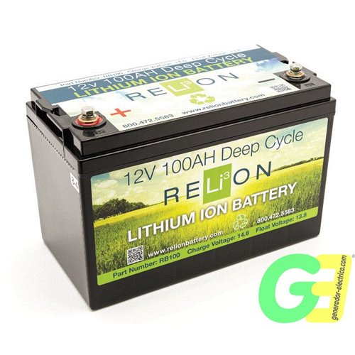 RELiON RB100 (equivalent to a 200Ah traditional lead acid battery)