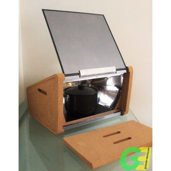 Rear open Suntaste solar oven