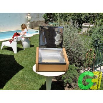 Large sSuntaste. The evolution of solar cooking