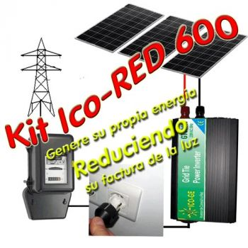 Ico-GE IcoRED600 Gridtie Mini Powerplant 2kW/day